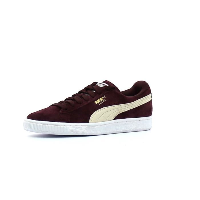 basket puma suede bordeaux