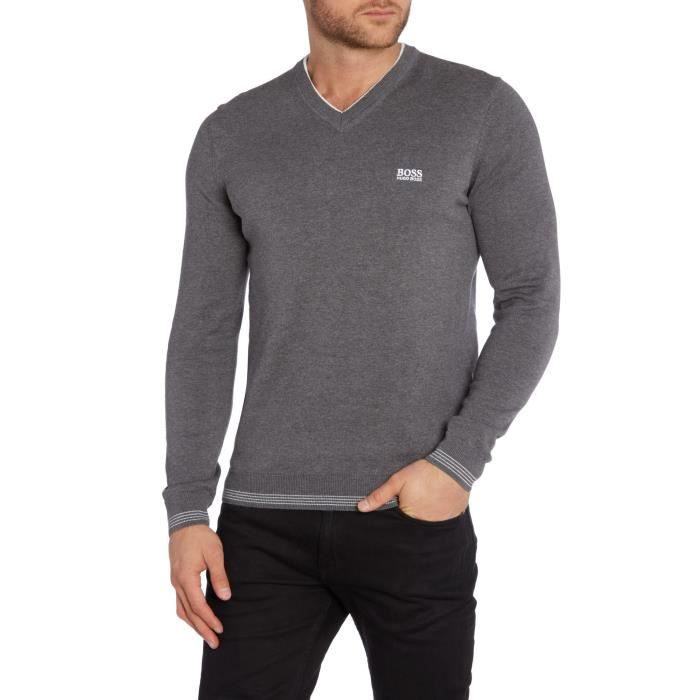 AUTHENTIQUE Pull Hugo Boss Green GRIS GRIS - Achat   Vente pull ... 11c6b58188f1