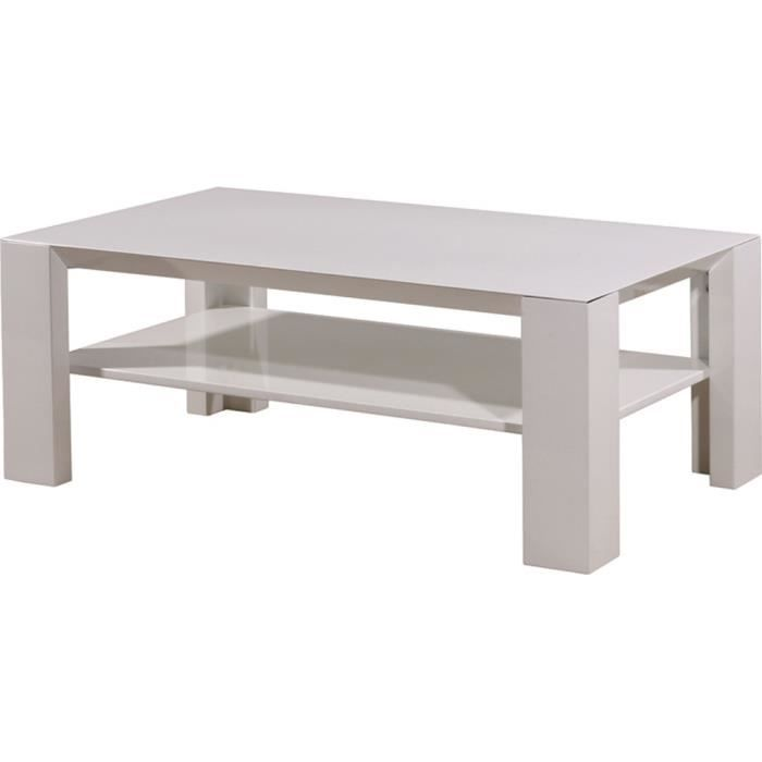 Table basse coloris blanc 120 x 45 x 70 cm achat vente table basse table - Table salon cdiscount ...