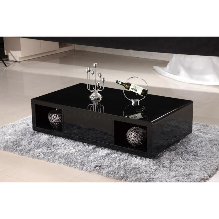 table basse laqu noir pas cher mobilier sur. Black Bedroom Furniture Sets. Home Design Ideas