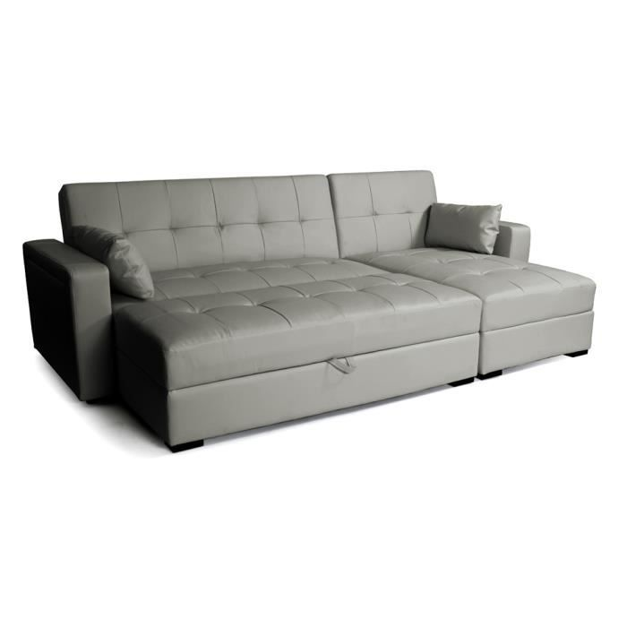 canap d 39 angle convertible et r versible switso achat vente canap sofa divan cuir. Black Bedroom Furniture Sets. Home Design Ideas