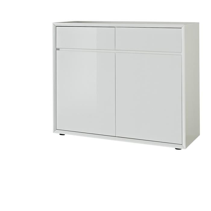 Commode san francisco blanc laqu achat vente commode Commode blanc laque