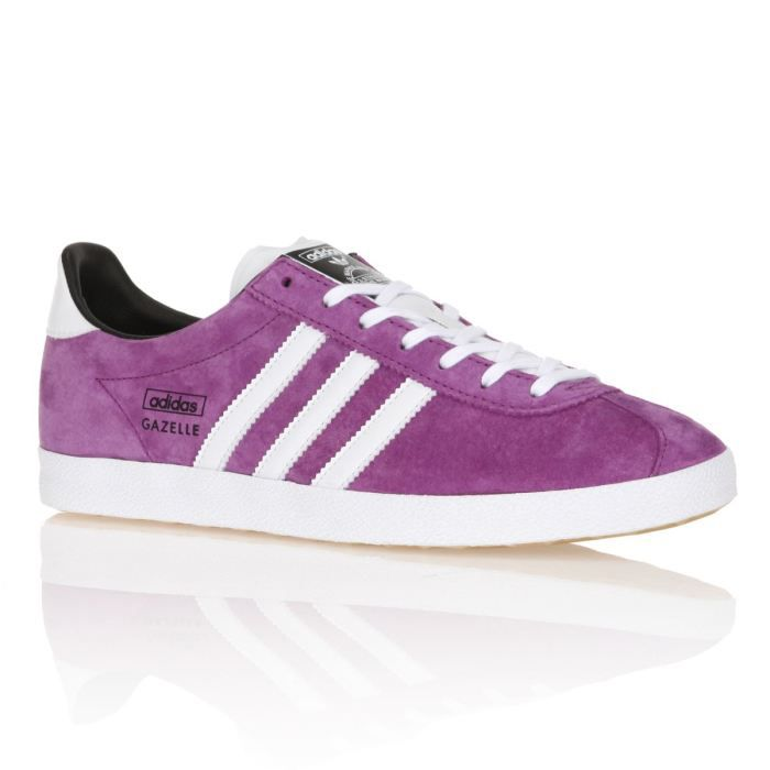 adidas baskets gazelle og femme femme violet et blanc. Black Bedroom Furniture Sets. Home Design Ideas