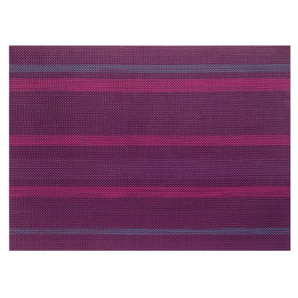 Set de table rectangul tiss violet aubergine achat for Set de table violet