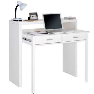 bureau extensible coloris blanc achat vente bureau extensible coloris blanc pas cher cdiscount. Black Bedroom Furniture Sets. Home Design Ideas