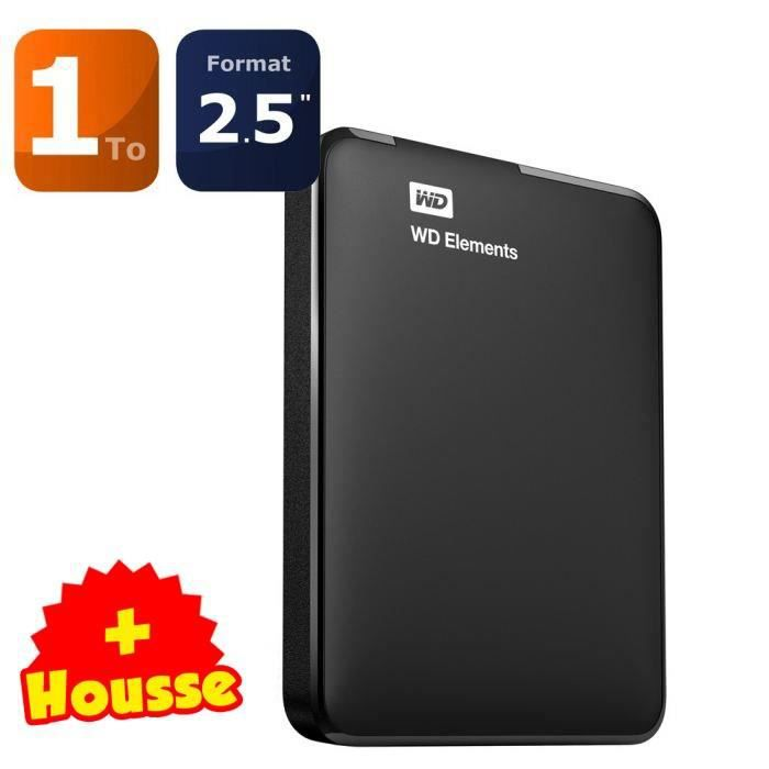 WD Elements Portable 1To + Housse OFFERTE