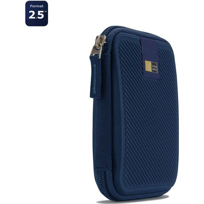 Etuis disques durs externe 2,5'' - Case Logic - EHDC-101 Dark Blue