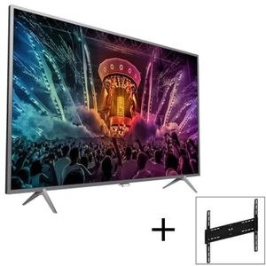 Pack PHILIPS TV LED 43PUS6401- Ultra-plat 4K - 108cm (43\