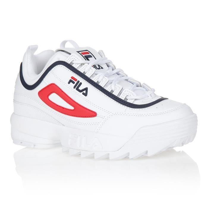 FILA Baskets Disruptor - Homme - Blanc et marine