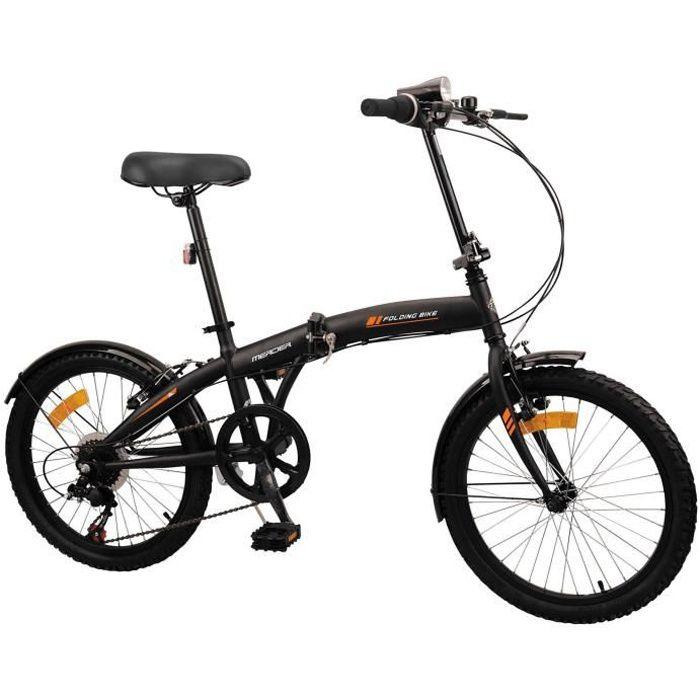 MERCIER Vélo Pliant 20- 6 vitesses indexées - Freins Vbrake - Noir