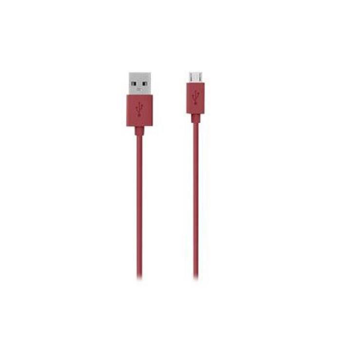 BELKIN F2CU012bt2M-RED Câble USB vers Micro USB