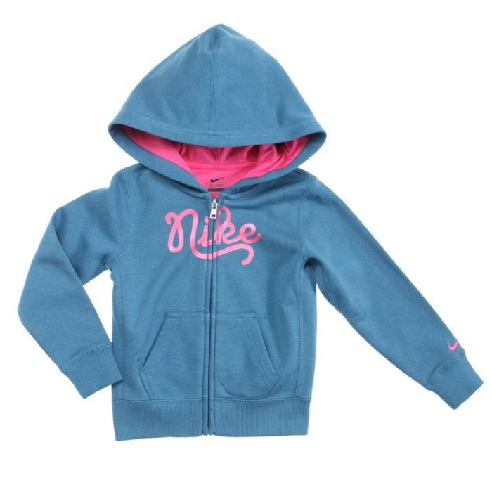 nike veste sweat zipp e enfant fille bleu et rose achat vente sweatshirt nike sweat enfant. Black Bedroom Furniture Sets. Home Design Ideas