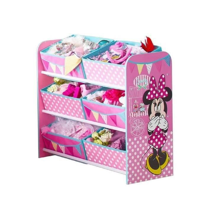 worlds apart minnie mouse meuble de rangement jouets enfant 6 bacs achat vente petit. Black Bedroom Furniture Sets. Home Design Ideas