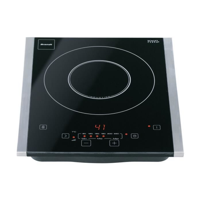 Plaque de cuisson brandt ti201x achat vente plaque for Plaque induction 1 foyer