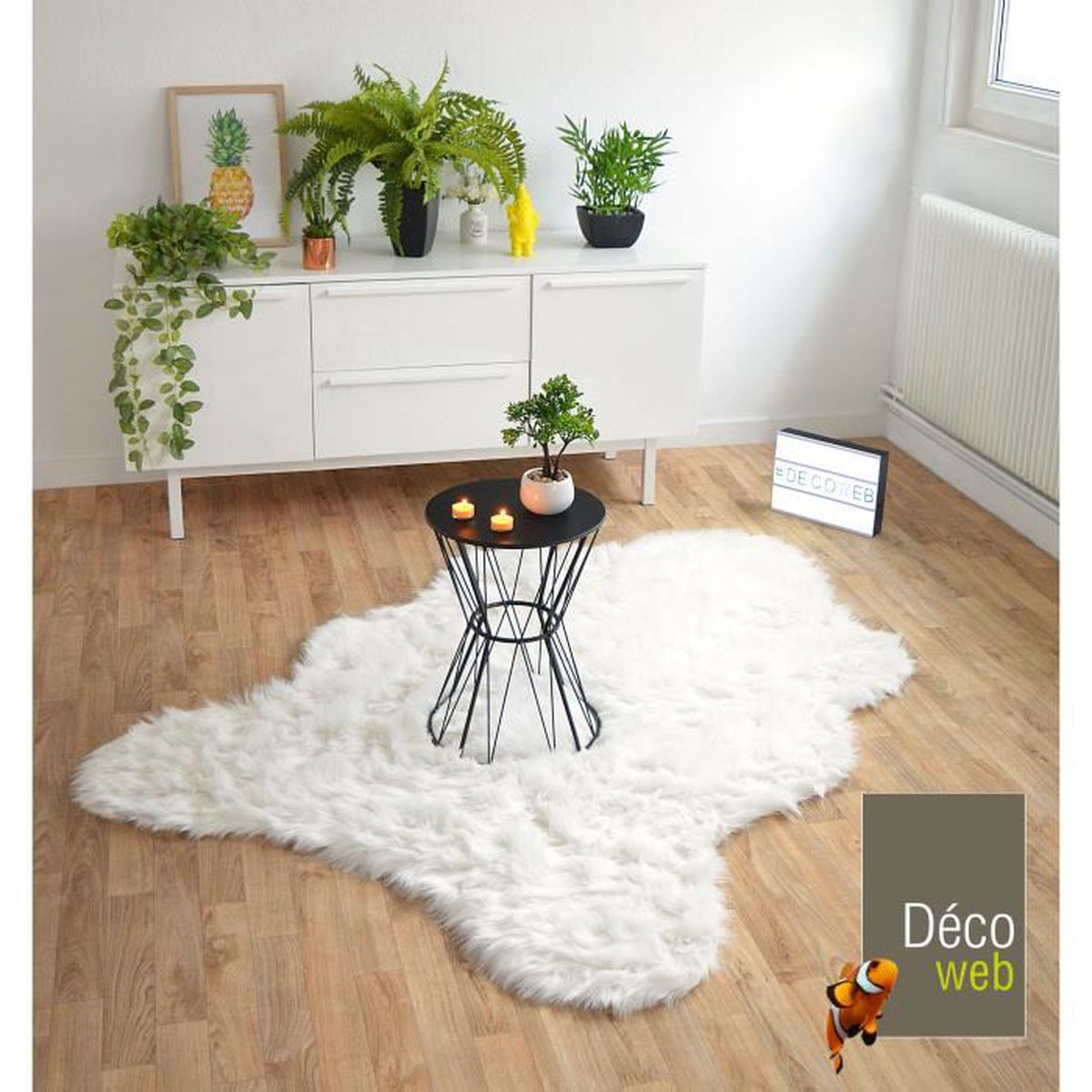 tapis peau de bete achat vente tapis peau de bete pas cher cdiscount. Black Bedroom Furniture Sets. Home Design Ideas