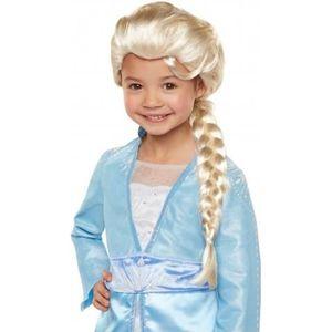 CHAPEAU - PERRUQUE Perruque luxe Elsa La Reine des neiges 2 fille