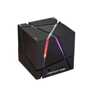 ENCEINTE NOMADE Magic Cube Mini Bluetooth Portable Speaker LED 3W