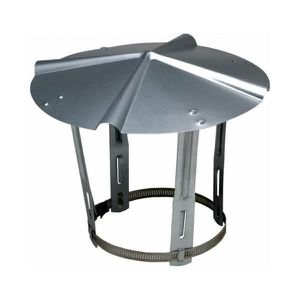 chapeau de pluie Ventilation diam/ètre 125/mm Flue Conduit Chapeau de chemin/ée Casquette Capuche