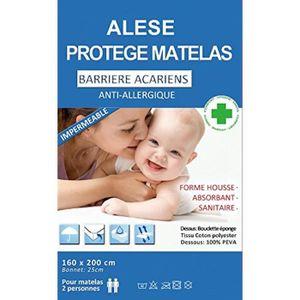 PROTÈGE MATELAS  Alése (160X200) protège-matelas Imperméable Anti-A