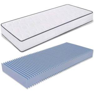 Mousse Respirante Hypoall/érgenique /Épaisseur 15 cm Rev/êtement Coton Orthop/édique Baldiflex Matelas 80x180 cm Easy
