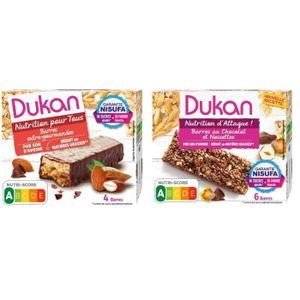 BISCUITS DIÉTÉTIQUES Lot de 2 -1 Barres de son d'avoine saveur chocolat