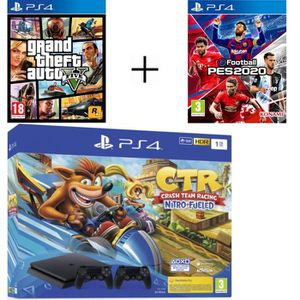 CONSOLE PS4 Pack Playstation : PS4 1To + 2ème Manette + Crash