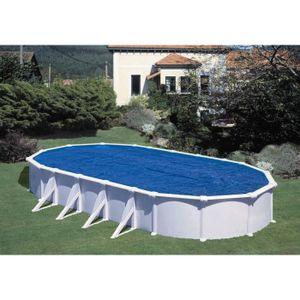 BÂCHE - COUVERTURE  GRE Bâche à bulles pour piscine ovale 1000x550 cm