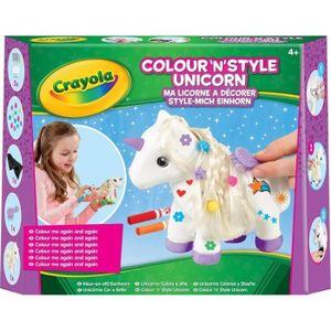 JEU DE COLORIAGE - DESSIN - POCHOIR Crayola - Ma licorne à décorer - Activités pour le