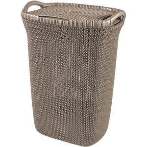 PANIER A LINGE CURVER Coffre à linge 57 L - Aspect tricot - Marro