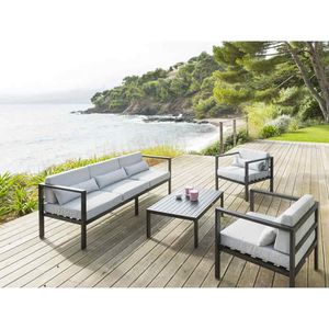 table basse jardin aluminium achat vente pas cher. Black Bedroom Furniture Sets. Home Design Ideas