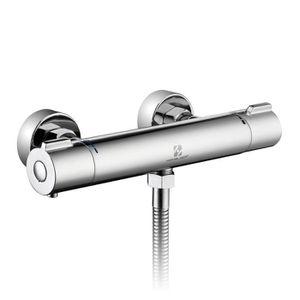 haut et bas Mitigeur thermostatique pour baignoire thermostatique pour douche murale avec deux sorties laiton