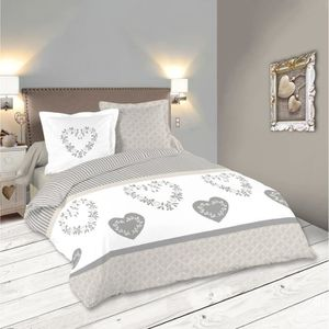 housse de couette beige achat vente housse de couette. Black Bedroom Furniture Sets. Home Design Ideas