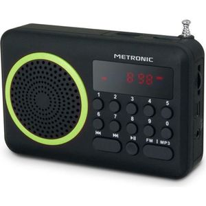 RADIO CD CASSETTE MET 477202 Radio portable FM Vert