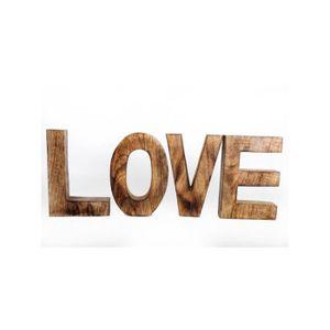 OBJET DÉCORATIF LETTRES EN BOIS LOVE 20X14CM  Naturel
