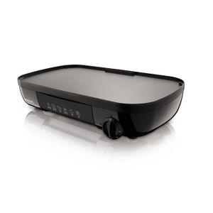 PLANCHA DE TABLE PHILIPS HD6320/20 Plancha 2 en 1 - 1500 W - Plaque