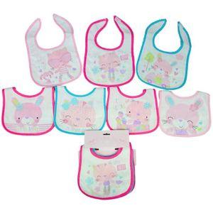 BAVOIR Lot de 7 bavoirs naissance pour bébé fille thème