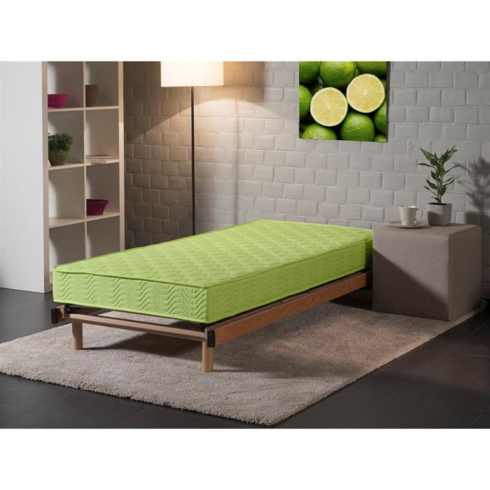 matelas 70x140cm pistache mousse 30kg m3 achat vente matelas cdiscount. Black Bedroom Furniture Sets. Home Design Ideas