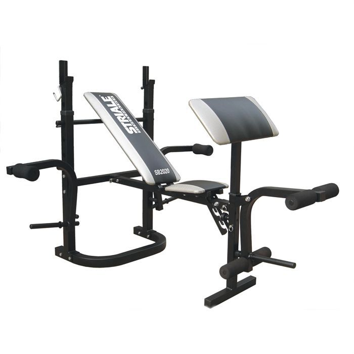 STRIALE Banc de musculation Multi-Power - Mixte - Noir et Gris