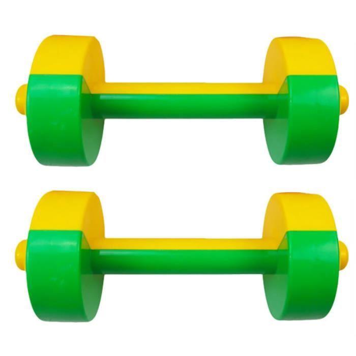 1 paire d'accessoires d'équipement de gymnastique de jouet d'haltère d'enfants pour l'enfant à l'école BARRE - HALTERE - POIDS