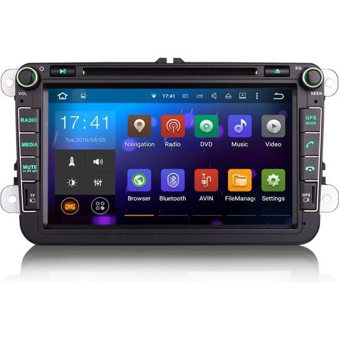 Autoradio GPS Android pour volkswagen Bluetooth passat eos touareg golf