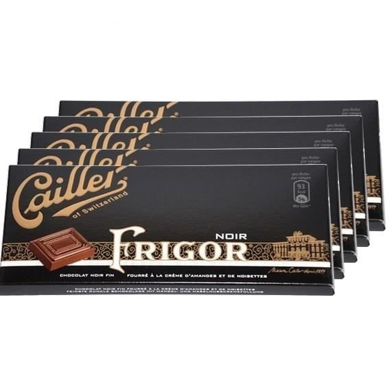 5 Tablettes Cailler Frigor Noir