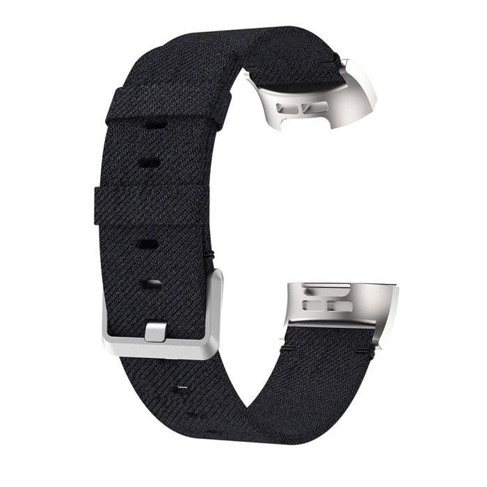 bracelet de montre vendu seul Bracelet de montre en tissu de toile tissée de rechange pour Fitbit Charge 4 TZZ200409670BK_non