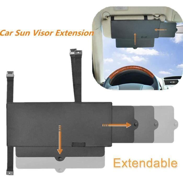 Extension de Pare Soleil Voiture, Auto Pare-Soleil Universel Anti-éblouissement Protection UV pour conducteur et Passager du siège