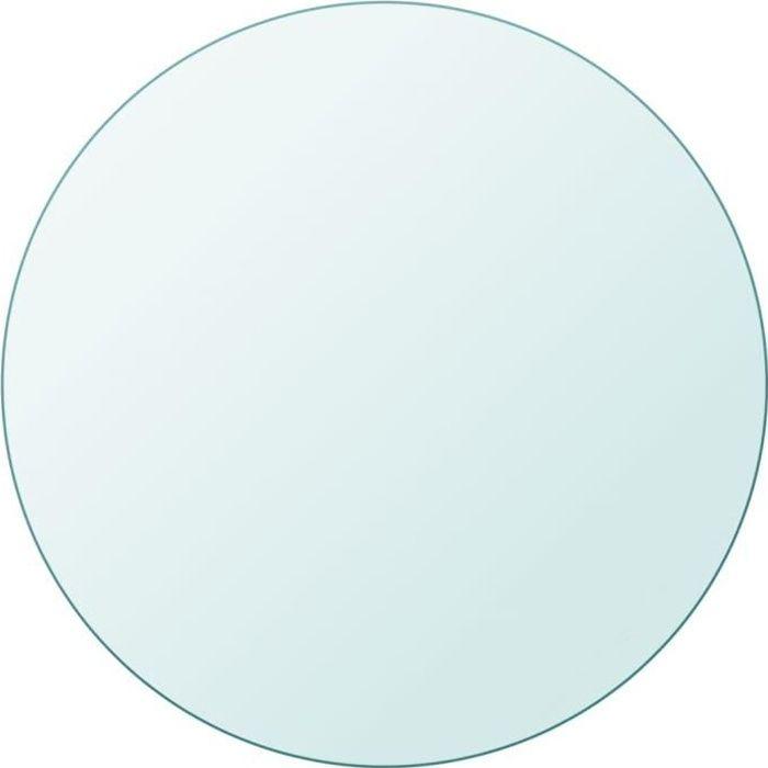 Plateau De Table - Dessus de table - ronde en verre trempé 600 mm