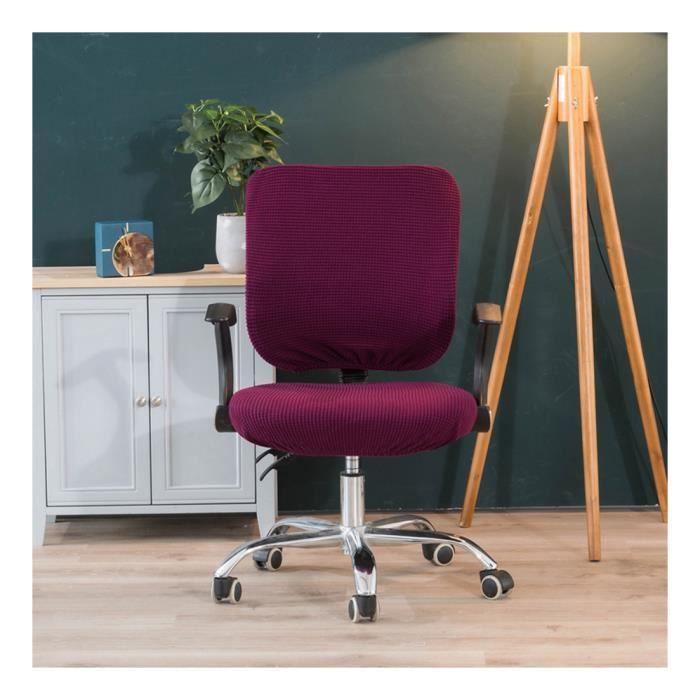Couvertures de Chaise pour Bureau et Chaise de Table de Salle à Manger Jacquard Coussin d'assise Violet Set (coussin + dos)