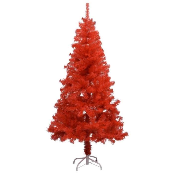 Excellent Qualité - Sapin de Noël artificiel avec support Rouge 150 cm PVC INCROYABLE [7523634]