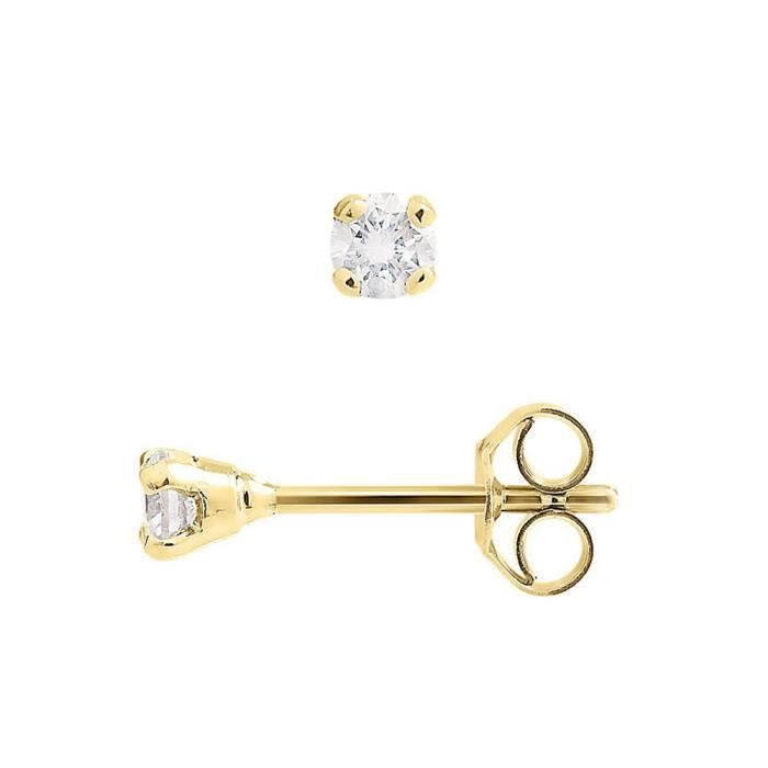 DIAMOND LANE Boucles d'Oreilles Puces Diamants Or Jaune 750° Femme