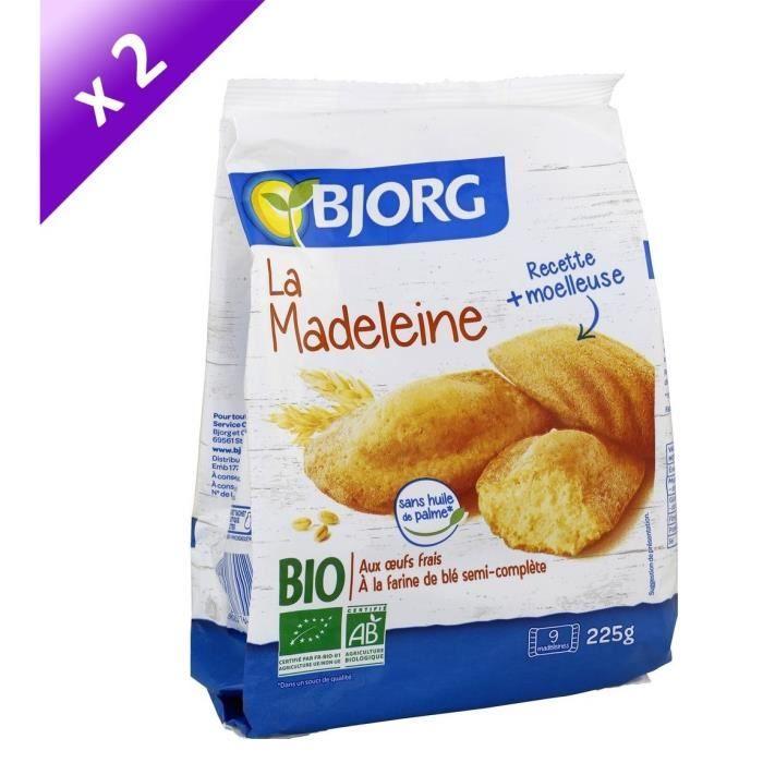 [LOT DE 2] Bjorg La Madeleine 225g