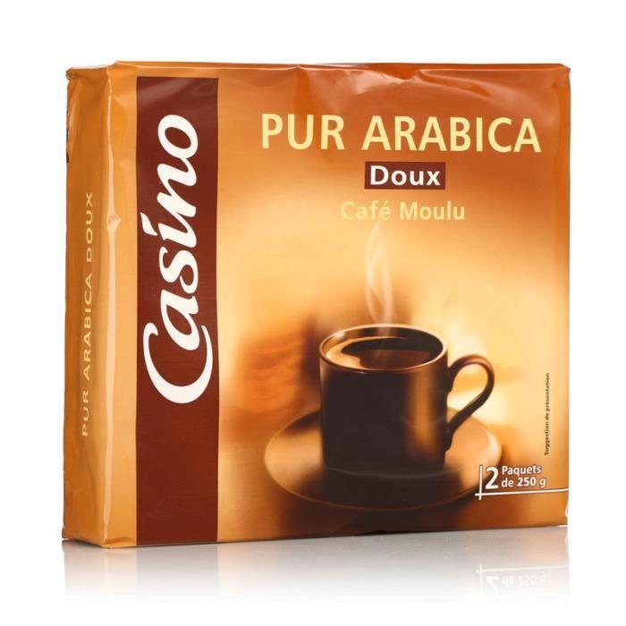 Lot de 2 sachets Café moulu - Arabica - Ultra doux - 250g