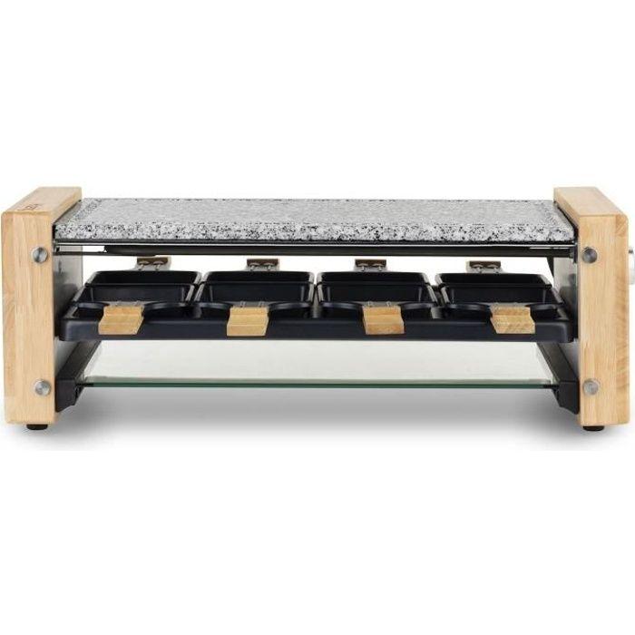 H.KOENIG WOD12 - Raclette et pierre à cuire 8 pers design bois